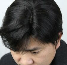 Fashion men full wig wigs toupee,100% real natural human hair,can be restyled