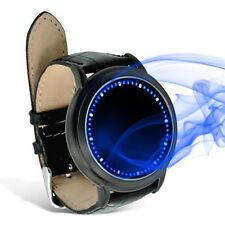 Fashion Magic LED Digital Touch Screen Colorful Leather Date Unisex Sport Watch