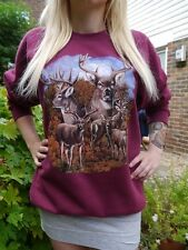 Wildlife Deer Jumper, Deer Sweatshirt, Deer Sweater, Animals, Unisex, New