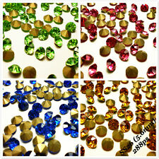 SS26 (5.6mm) Various Colors Point back Rhinestones Crystal Strass Chatons 288ps