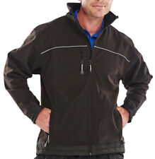 Click Soft Shell Jacket Black or Navy Blue XS - 6XL Coat Water Resistant