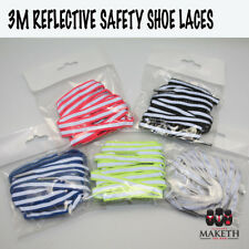 3M Reflective Shoe Laces 5 Colours High Visibility Running OHS Glow In The Dark