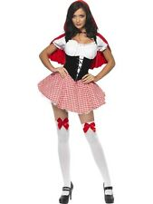 LADIES FEVER LITTLE RED RIDING HOOD FAIRY TAIL FANCY DRESS COSTUME SEXY OUTFIT