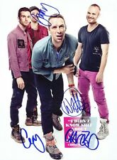 COLDPLAY Mylo Xyloto SIGNED Autographed PHOTO Print POSTER Shirt CD DVD 012
