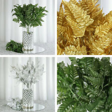 72 Branches Leather Fern Greenery - 3 Colors HOME DECORATIONS WEDDING DIY CRAFTS