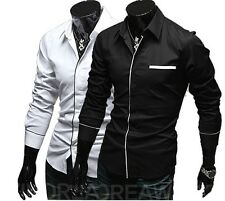 2013 Collection New Mens Tops Formal Casual Suits Slim Fit Dress Shirt