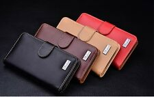 Genuine Leather Wallet Case Cover For Motorola DROID RAZR XT910 XT912 RAZR MAXX