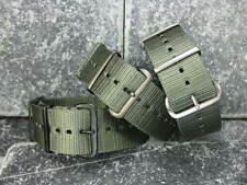 22mm Grey Nylon Diver Strap 4 Rings Watch Band Military ZULU Maratac 22 A 5