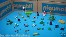 Playmobil flowers tray tub water hose magical mirror radio video camera toy 107
