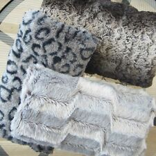 FAUX FUR HAND MUFF MITT HAND WARMER MUFFLER. Choice of Colour and Size.