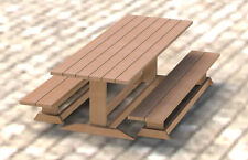 Trestle Style Picnic Table DIY Building Plans 003 - Easy to Build