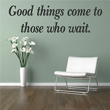 Good Things Quote Wall Sticker Art Decor Home Design Transfer Graphic Vinyl Q31