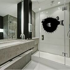 Funny Puffa Fish Animal Wall Sticker Art Decal Home Kitchen Design Bathroom A28