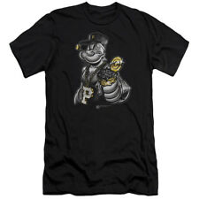 Popeye Get More Spinach Gangster Licensed Adult Slim Fit Shirt S-XXL