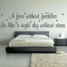 Face Without Freckles Night Sky Stars Love Quote Wall Sticker Decor Graphic Q36
