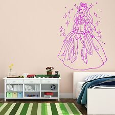 Barbie Disney Fairy Princess Wall Sticker / Mural Decal Girls Bedroom Design K21