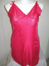 NWT DELTA BURKE Plus Size Lacey Cup Microfiber Chemise in Grenadine