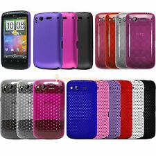 Soft Silicone Hydro Gel Circle Hard Hybrid Back Case Cover For HTC Desire S G12