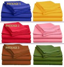 MOTHERS DAY GIFT: 2 SETS OF 1500 SERIES 4 PIECE DEEP POCKET BED SHEET SETS