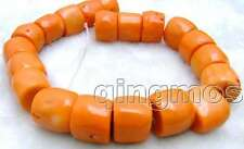 "SALE Big 20-30mm High Quality Natural Orange Column Knurl Coral strand 16""-lo533"