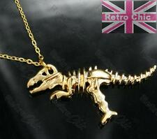 T REX skeleton DINOSAUR LONG NECKLACE pendant CHAIN big tyrannosaurus skull bone