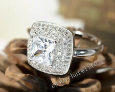 Fashion Jewelry Micro Pave AAA Cubic Zirconia CZ 925 Sterling Silver Ring WJ002