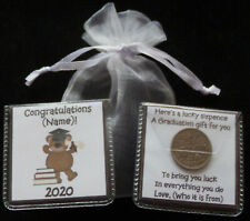PERSONALISED GRADUATION LUCKY SIXPENCE BEAR UNIQUE KEEPSAKE GIFT 5 DESIGNS