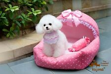 KOJIMA Prince Princess Cute Cozy Soft Lace Beds Kennel For Small-Medium Dog Cat