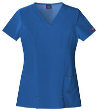 Dickies Xtreme Stretch 82851 Medical Uniform Scrubs Top Shirt PICK COLOR & SIZE