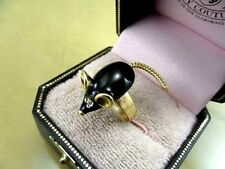 Vintage retro antique style mouse charm ring multiple choices