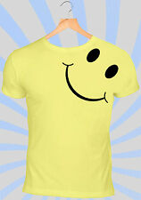 Smiley T-Shirt | 90's Grunge Yellow ACID Rave Face Vintage Retro Dance