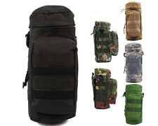 6 Col Molle Zipper Camo Water Bottle Utility Medic Pouch w Small Mess Pouch BK A