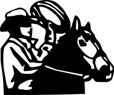 cowboy horse rope hat cow calf rodeo range star   VINYL DECAL STICKER 220 +