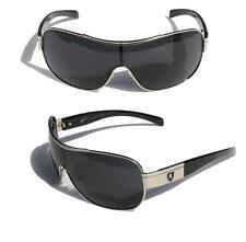 Mens Oversized Sunglasses Khan eyewear SHIELD SPORTY WRAP AROUND BIKER SHADE 399
