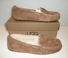 Ugg Ansley chestnut suede women's moccasin shoes NIB