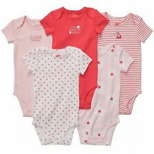 New Carter's 5 Pack Ladybug Pink Floral Bodysuits NWT Size NB 3 6 9 12 18 24m