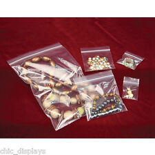 LOT OF 100x ZIPLOC BAGS ZIPPER BAGS JEWELRY BAGS RECLOSABLE CLEAR BAGS POLY BAGS
