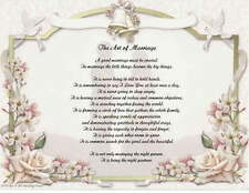 Personalized Wedding Poem The Art Of Marriage