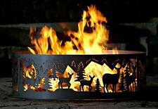 Outdoor Campfire Fire Ring w Whitetail Deer Design [ID 401538]