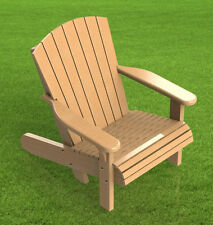 Adirondack Style Lawn Chair Building Plans 002 - Easy to Build - Plans Only