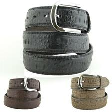 Faux Alligator Leather Dress Belt Unisex Mens Textured Animal Crocodile Croc