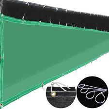 6'x50' Fence Screen Cover Green / Black Flat Fabric Slat Mesh Privacy Windscreen