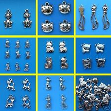 Tibetan Silver Cat Theme Mixed Charms Cats