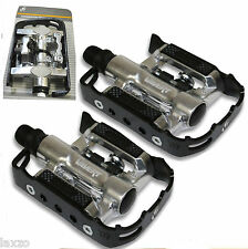 VAVERT COMBINATION CLIPLESS OR FLAT  BIKE PEDALS  BICYCLE CYCLE PEDAL SPD