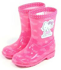 Hello Kitty New Kids Waterproof Rain Boots Shoes for Girls Pinks Toddler Infant
