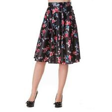 Hell Bunny Rock BOW BELL SKIRT black