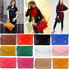 Lady Women Envelope Clutch Purse HandBag Faux Leather Shoulder Chain Tote Bag
