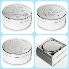 PERSONALISED BABYS FIRST CURL KEEPSAKE TRINKET BOX POT Christening gift idea