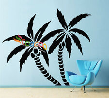 "Wall Decor Decal Sticker Removable Palm Trees 72""H x 83""W"