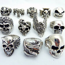 MENS GOTHIC RINGS, SKULL, BIKER, PIRATE, HEAD - Choose Your Style